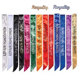 Homecoming Royalty Satin Sash and Royalty Pin Set