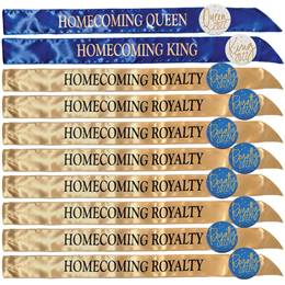 20-piece Homecoming Royalty Satin Sashes and Buttons Set