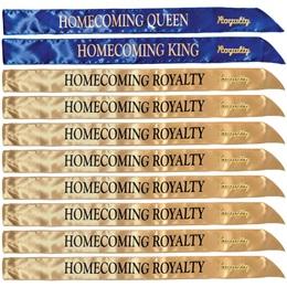 20-piece Homecoming Royalty Satin Sashes and Pins Set