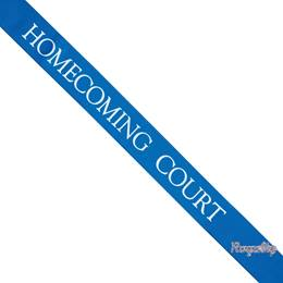 Homecoming Court Sash with Royalty Pin- Blue
