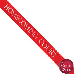 Homecoming Court Ribbon Sash and Star Button Set - Red