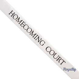Homecoming Court Sash with Royalty Pin- White