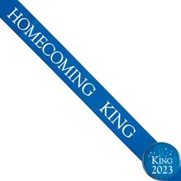 Homecoming King Ribbon Sash and Star Button Set - Blue