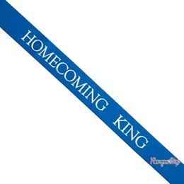 Homecoming King Ribbon Sash with Pin - Blue