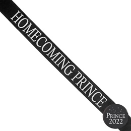 Homecoming Prince Ribbon Sash and Star Button Set - Black