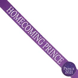 Homecoming Prince Ribbon Sash and Star Button Set - Purple