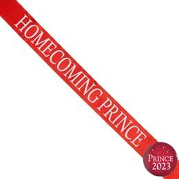 Homecoming Prince Ribbon Sash and Star Button Set - Red
