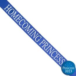 Homecoming Princess Ribbon Sash and Star Button Set - Blue