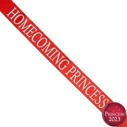 Homecoming Princess Ribbon Sash and Star Button Set - Red