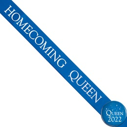 Homecoming Queen Ribbon Sash and Star Button Set - Blue