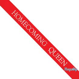 Homecoming Queen Sash with Royalty Pin- Red