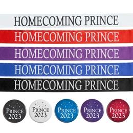 Homecoming Prince Ribbon Sash With Button