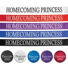 Homecoming Princess Ribbon Sash With Button
