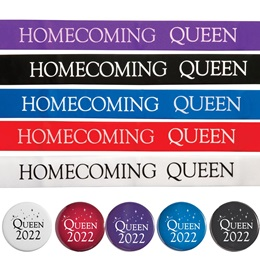 Homecoming Queen Ribbon Sash With Button