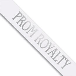 Prom Royalty Sash - White