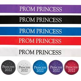 Prom Princess Sash and Button Set