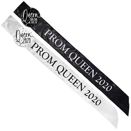 Satin Prom Queen 2020 Sash with Button Set