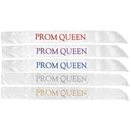 White Satin Prom Queen Sash