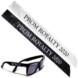 Prom Royalty Sash and Sunglasses Set