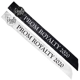 Satin Prom Royalty 2020 Sash with Button Set