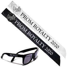 Prom Royalty Sash, Button, and Sunglasses Set