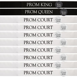 Black & White Prom Sash Set
