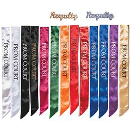 Prom Court Satin Sash and Royalty Pin Set