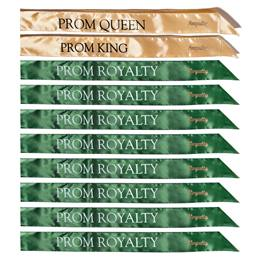 Prom Royalty Satin Sash Set With Pins