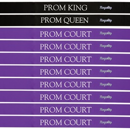 Prom Royalty Ribbon Sash Set With Pins