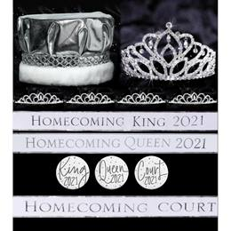 26-piece White/Silver Homecoming Year  Royalty Set