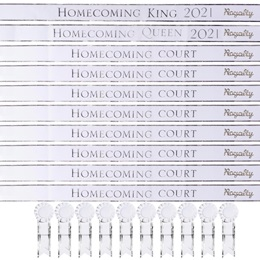 30-piece Homecoming Year Sash Set With Pins - White/Silver