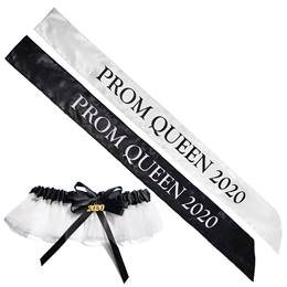 Prom Queen 2020 Sash and Garter Set