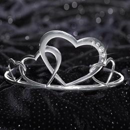 Jayden Silver Metal Tiara