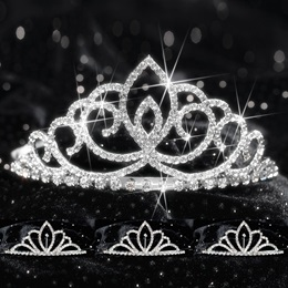 Four-piece Tiara Set - Sharona Queen and Chelsey Court