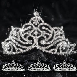 Queen and Court Tiara Set - Jenna and Charlize