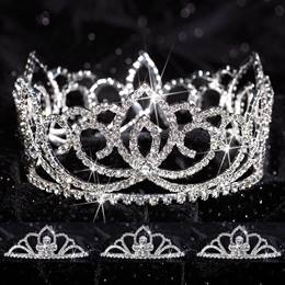 Prom Tiara Set - Full-crown Sasha Queen & Kayla Court