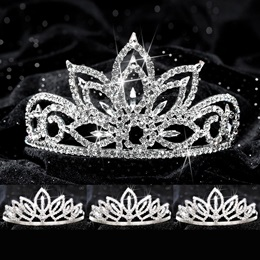 Four-piece Tiara Set - Falling Star Queen and Toni Court