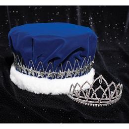 Blue/Silver Majestic Star Crown and Aurora Tiara Set