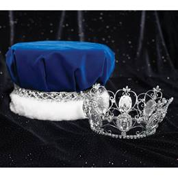 Blue/Silver Velvet Crown and Kimberli Tiara Set