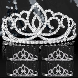 Tiara Set - Silver Sasha Queen and Francine Court