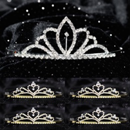 Tiara Set - Chelsey Queen and Gold Alisa Court