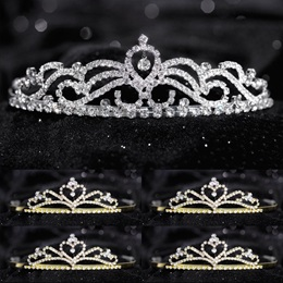 Tiara Set - Ruby Queen and Gold Alisa Court