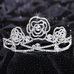 Silver Rose Tiara