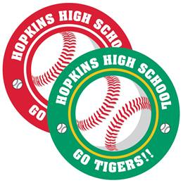 Baseball Circle Magnet