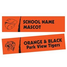 Slash Rectangle Bumper Magnet - Orange/Black
