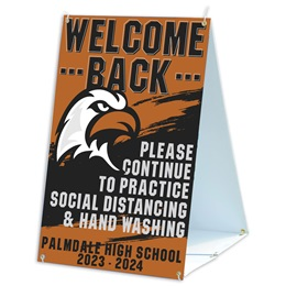 Welcome Back Sandwich Board Sign