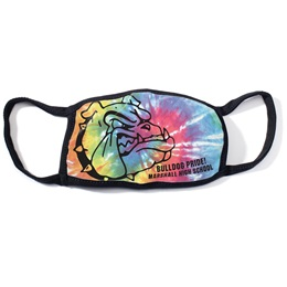 Full-color 3-Layer Face Mask - Tie-dye Mascot