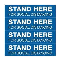 Floor Decal Strips Set - Stand Here For Social Distancing
