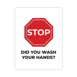 Health and Wellness Wall Decal - Stop! Did You Wash Your Hands?