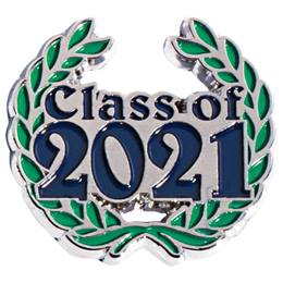 Class of 2021 Award Pin - Laurel Leaves